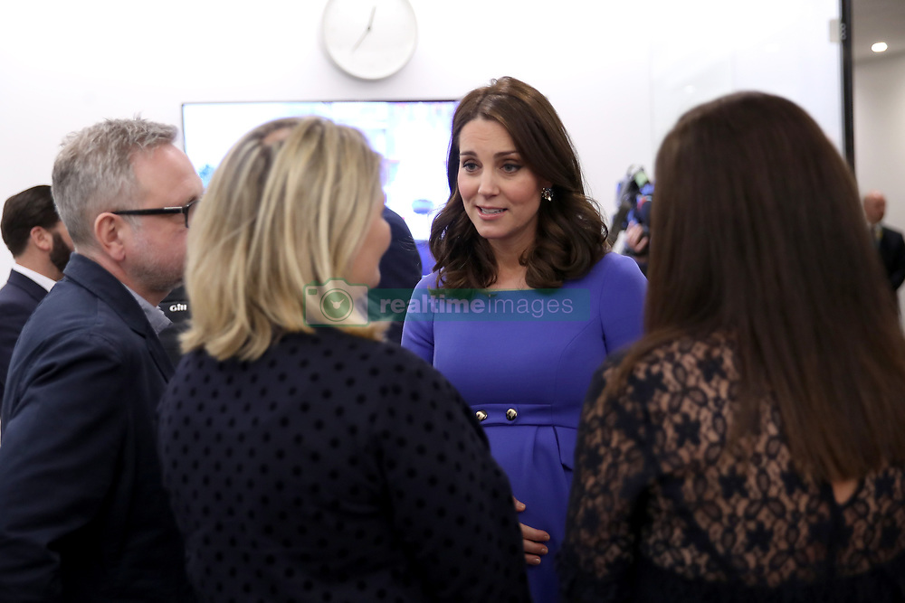 The Duchess of Cambridge meets panelists and beneficiaries as she attends the first Royal Foundation Forum in central London.