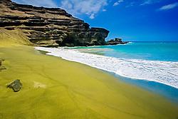 Green Sand Beach, Mahana Bay, South Point, Big Island, Hawaii, USA, Pacific Ocean