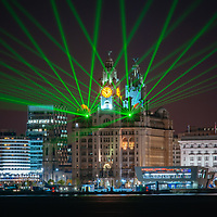 As part of the Battle of the Atlantic event lasers were projected from the Liver Building.