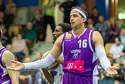 16.03.2019, SPH Walfersam, Kapfenberg, AUT, Admiral BBL, Kapfenberg Bulls vs Vienna D.C. Timberwolves, 29. Runde, im Bild Marko Kolaric (Vienna D.C. Timberwolves) // during the Admiral Basketball league, 29th round match between Kapfenberg Bulls and Vienna D.C. Timberwolves at the SPH Walfersam in Kapfenberg, Austria on 2019/03/16. EXPA Pictures © 2019, PhotoCredit: EXPA/ Dominik Angerer