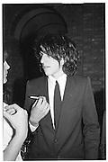 Barnaby Harrod. Lord Antony Lambton book party, Arts Club. 19 September 1983. © Copyright Photograph by Dafydd Jones 66 Stockwell Park Rd. London SW9 0DA Tel 020 7733 0108 www.dafjones.com