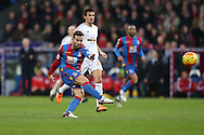 Yohan Cabaye of Crystal Palace takes a shot for goal. Barclays Premier League match, Crystal Palace v Swansea city at Selhurst Park in London on Monday 28th December 2015.<br /> pic by John Patrick Fletcher, Andrew Orchard sports photography.