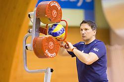 Samo Miklavc during training camp of Slovenian Volleyball Men Team 1 month before FIVB Volleyball World League tournament in Ljubljana, on May 5, 2016 in Arena Vitranc, Kranjska Gora, Slovenia. Photo by Vid Ponikvar / Sportida