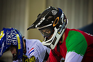 at the 2014 UCI BMX Supercross World Cup in Manchester.