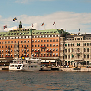 Grand Hotel on the waterfront in Stockholm, Sweden