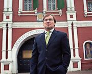 Moscow, Russia, 08/12/2006.&#xA;Phillippe Bogdanov of luxury real estate firm Kirsanova Realty.<br />