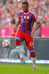 MUNICH, GERMANY - OCTOBER 18: Jerome Boateng of Bayern Munich during the Bundesliga match between Bayern Munich and Werder Bremen. October 18, 2014 in Munich, Germany. Photo mandatory by-line: Mitchell Gunn