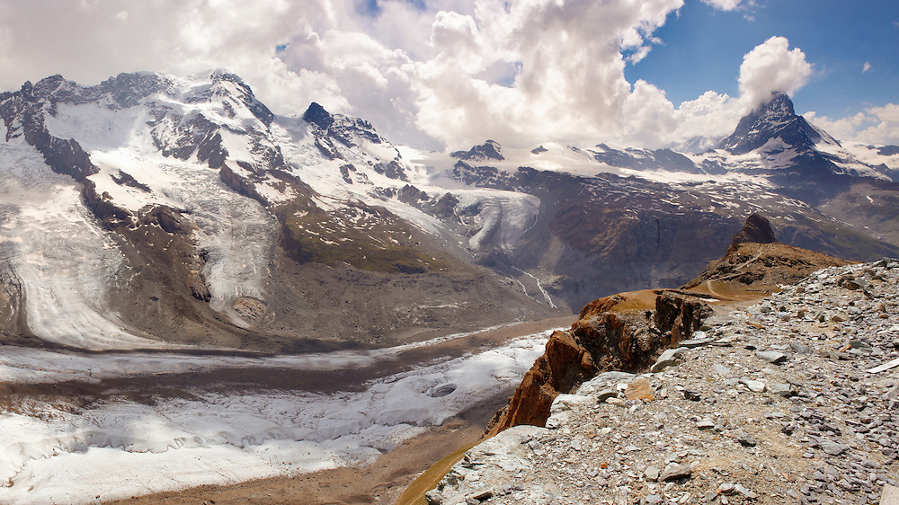 the Gornergletscher glacier viewed from Gornergrat with the Matterhorn. Zermatt . .<br /> <br /> Visit our SWITZERLAND  & ALPS PHOTO COLLECTIONS for more  photos  to browse of  download or buy as prints https://funkystock.photoshelter.com/gallery-collection/Pictures-Images-of-Switzerland-Photos-of-Swiss-Alps-Landmark-Sites/C0000DPgRJMSrQ3U