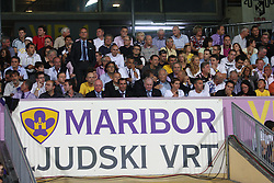 VIP sector during the UEFA Europa League play-offs second leg match between NK Maribor and US Citta di Palermo at Ljudski vrt Stadium on August 26, 2010 in Maribor, Slovenia. Maribor defeated Palermo 3-2 but Palermo won in total 5-3 and qualified for Europa league. (Photo by Marjan Kelner / Sportida)