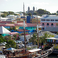 Americas, Caribbean, Antigua & Barbuda. Cruise port at St. John's, Antigua.