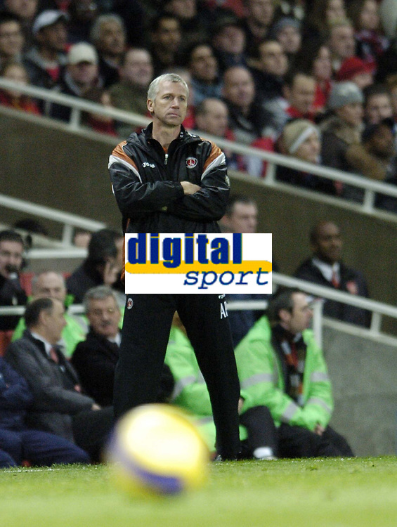 Photo: Olly Greenwood.<br />Arsenal v Charlton Athletic. The Barclays Premiership. 02/01/2007. Charlton manager Alan Pardew looks at another defeat