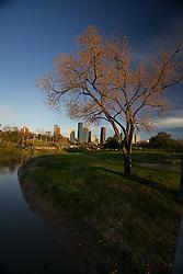 Houston,Texas,Buffalo Bayou,Hike & Bile trail,skyline,daytime,joggers,biker,