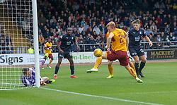 =mw245= misses. half time : Dundee 0 v 0 Motherwell, SPFL Ladbrokes Premiership game played 1/9/2018 at Dundee's Kilmac stadium Dens Park