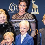 NLD/Utrecht/20170921 - Premiere Kuyt, Gertrude Kuyt - van Vuren en kinderen Noelle, Roan Dirk, Jordan, Aidan
