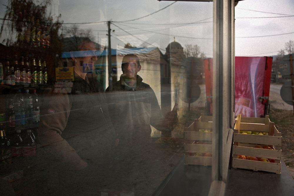 Street scene in Topolovnik, Serbia..Matt Lutton for the Financial Times.