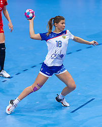 14-12-2018 FRA: Women European Handball Championships Russia - Romania, Paris<br /> First semi final Russia - Romania 28 - 22 / Daria Samokhina #18 of Russia