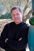 Lew Price, 46, General Manager of Quixote Winery in the Napa Valley, California, Owned and built by Carl Doumani and designed by Friedensreich Hundertwasser, an Austrian designer. Napa Valley, CALIFORNIA.