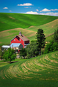 Farm buildings in the palouse area of eastern Washington