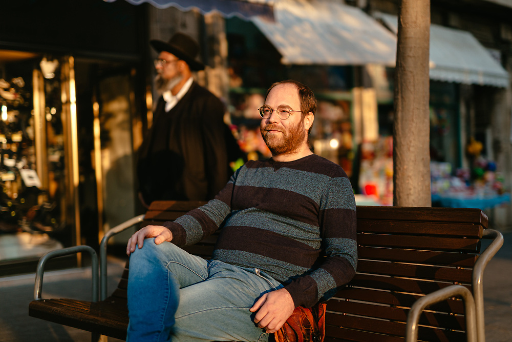 Avi Tfilinski, 42, a former ultra-Orthodox Jewish man that has left the strict Jewish religious community in which he lived for most of his life, poses for a portrait in central Jerusalem, Israel, on November 24, 2019. Avi Tfilinski is a client of Hillel - The Right to Choose, an Israeli non-profit organization dedicated to helping young adults who have left the ultra-Orthodox Jewish world integrate and lead successful lives as members of secular Israeli society.