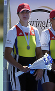 © Peter Spurrier/Sports Photo .email pictures@rowingpics.com tel +44 7973 819 551.Photo  Peter Spurrier.31/08/2003 Sunday.2003 World Rowing Championships, Idroscala. Milan, Italy.  {A Finals].ROM W8+ Elisabeta [Lipa] Oleniuc........ Milan. ITALY 2003 World Rowing Championships. Idro Scala Rowing Course. [Mandatory Credit: Peter Spurrier: Intersport Images.]