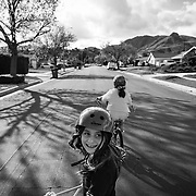 With Los Angeles residents on locked down and stay-at-home orders, neighborhood kids have taken to playing in the usually busy streets.