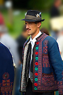 People in tradtional Hungarian costume celebrating the wine festival - Badascony, Hungary