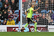 Brighton striker, Bobby Zamora (25) opens the scoring during the Sky Bet Championship match between Burnley and Brighton and Hove Albion at Turf Moor, Burnley, England on 22 November 2015.