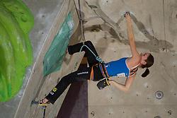 Fifth placed Katharina Posch of Austria during Final IFSC World Cup Competition in sport climbing Kranj 2010, on November 14, 2010 in Arena Zlato polje, Kranj, Slovenia. (Photo By Vid Ponikvar / Sportida.com)