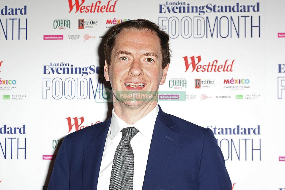 May 30, 2017 - London, UK - London, UK, George Osborne, London Evening Standard Food Month - launch, (Credit Image: © Richard Goldschmidt/London News Pictures via ZUMA Wire)