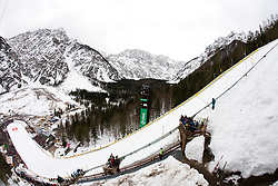 Flying hill at Qualification's 1st day of 32nd World Cup Competition of FIS World Cup Ski Jumping Final in Planica, Slovenia, on March 19, 2009. (Photo by Vid Ponikvar / Sportida)