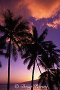 sunset on Island of Maui, <br /> view to Island of Lanai<br /> Hawaii, USA ( Pacific )