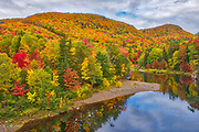 Indian Brook and the Acadian forest in autumn foliage <br />Indian Brook<br />Nova Scotia<br />Canada