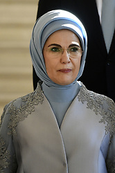 May 25, 2017 - Brussels, BELGIUM - First Lady of Turkey Emine Gulbaran Erdogan pictured before a diner of the First Ladies and Queen at the Royal castle in Laken/Laeken, on Thursday 25 May 2017, in Brussels. US President Trump is on a two day visit to Belgium, to attend a NATO (North Atlantic Treaty Organization) summit on Thursday. BELGA PHOTO YORICK JANSENS (Credit Image: © Yorick Jansens/Belga via ZUMA Press)