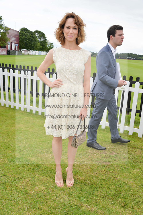 FRANCES O'CONNOR at the Cartier Queen's Cup Final polo held at Guards Polo Club, Smith's Lawn, Windsor Great Park, Egham, Surrey on 15th June 2014.