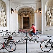 Bicycles at Hofburg Palace in Vienna