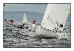 470 Class European Championships Largs - Day 3.Brighter conditions with more wind..