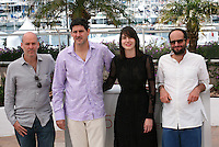 Producer Jaime Romanda, actor Adolfo Jiménez Castro, actress Nathalia Acevedo, Director Carlos Reygadas,