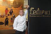 "Chef José Cordeiro, executive-chef in ""Feitoria"" restaurant, part of Altis Belém Hotel, which is one of portuguese Michelin-starred restaurants."
