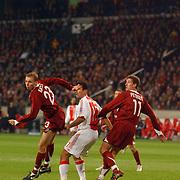 NLD/Amsterdam/20051122 - Voetbal, Champions League, Ajax - Sparta Praag, Michal Kadlec (23), Yannis Anastasiou (17), Adam Petrous (11)