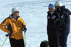 Ivan Hudac, Marko Gracer and Vladimir Korolkevic  at practice of Slovenian Cross country National team before new season 2008/2009, on October 22, 2008, glacier Dachstein, Ramsau, Austria. (Photo by Vid Ponikvar / Sportida).