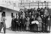 Russian emigrants on a boat to the USA in about 1900.