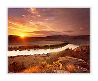 Sunrise over Upper Missouri River Breaks National Monument, Montana