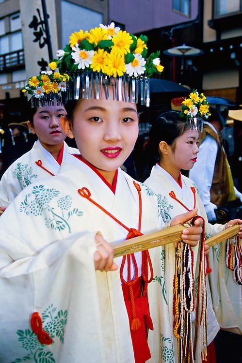 Parade, Hachi-man Matsuri (festival), Takayama, Gifu Prefecture, Japan
