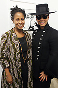 New York, NY-Jan. 11: (L-R) Chef Leslie Parks and Recording Artist Alicia Keys attend the Gordon Parks: I AM YOU Opening Reception presented by the Gordon Parks Foundation  held at the Jack Shanmain Gallery on January 11, 2018 in New York City.  (Photo by Terrence Jennings/terrencejennings.com)