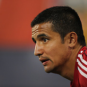 Tim Cahill, New York Red Bulls, warming up during the New York Red Bulls Vs Seattle Sounders, Major League Soccer regular season match at Red Bull Arena, Harrison, New Jersey. USA. 20th September 2014. Photo Tim Clayton