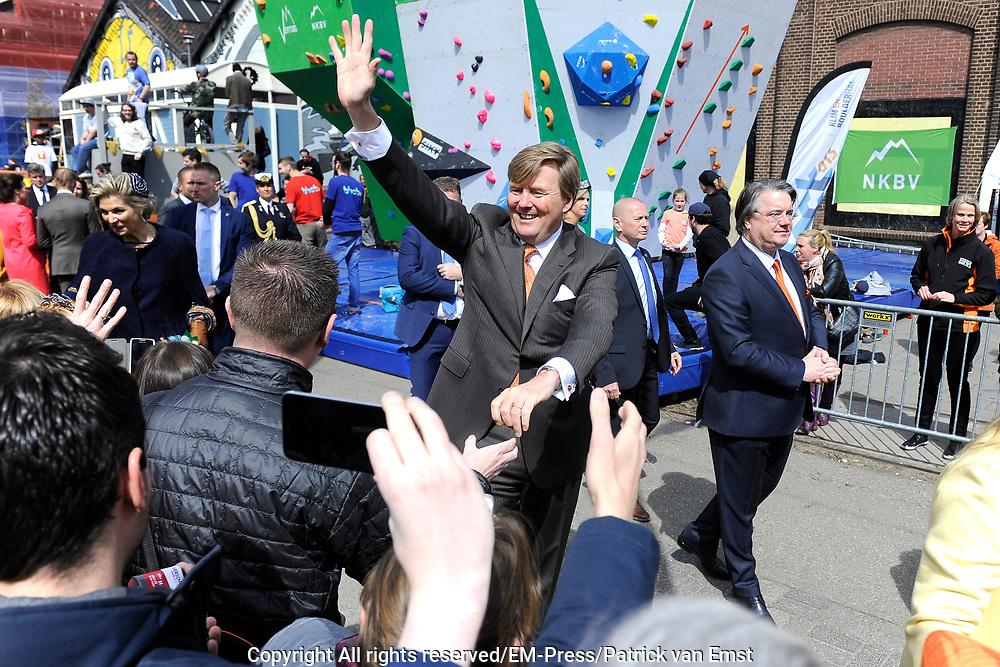 Koningsdag 2017 in Tilburg / Kingsday 2017 in Tilburg<br /> <br /> Op de foto / On the photo: Koning Willem-Alexander / King Willem-Alexander