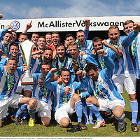 7 July 2013; Dublin AUL team celebrate with the cup. Oscar Traynor Cup Final, AUL v Inishowen League, Tolka Park, Dublin. Picture credit: Ray Lohan / SPORTSFILE