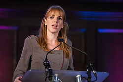 London, UK. 20th November, 2018. Angela Rayner, Shadow Education Secretary, addresses education staff, parents, governors, councillors, MPs and students at a March for Education rally to protest against crises involving education funding, recruitment, staff retention and remuneration.