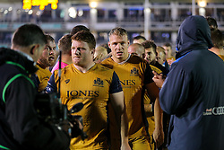 Mitch Eadie of Bristol Rugby looks dejected after a 22-6 loss - Rogan Thomson/JMP - 20/10/2016 - RUGBY UNION - The Recreation Ground - Bath, England - Bath Rugby v Bristol Rugby - EPCR Challenge Cup.