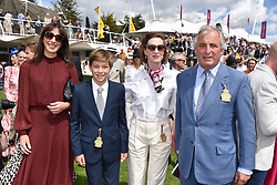 29 July 2021 - The QATAR Goodwood Festival Ladies Day at Goodwood Racecourse, West Sussex.<br /> Picture Shows - Samantha Cameron, Nelson Rycroft, Lady Flora Rycroft and Viscount Astor.<br /> <br /> NON EXCLUSIVE - WORLD RIGHTS